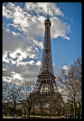 Eiffel Tower in Paris France - designed for 1889 World Fair