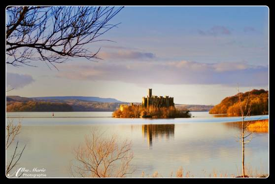 hiking - castle folly, sunset at Lough Key, Castle Island, Roscommon, Ireland